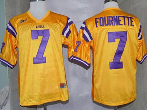 LSU Tigers #7 Leonard Fournette Yellow Jersey