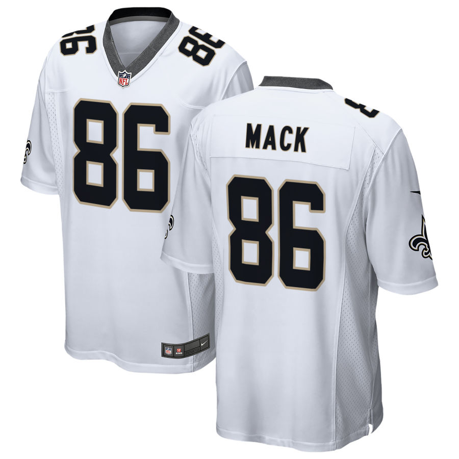 Men's New Orleans Saints #86 Alize Mack White Road Stitched NFL Nike Game Jersey