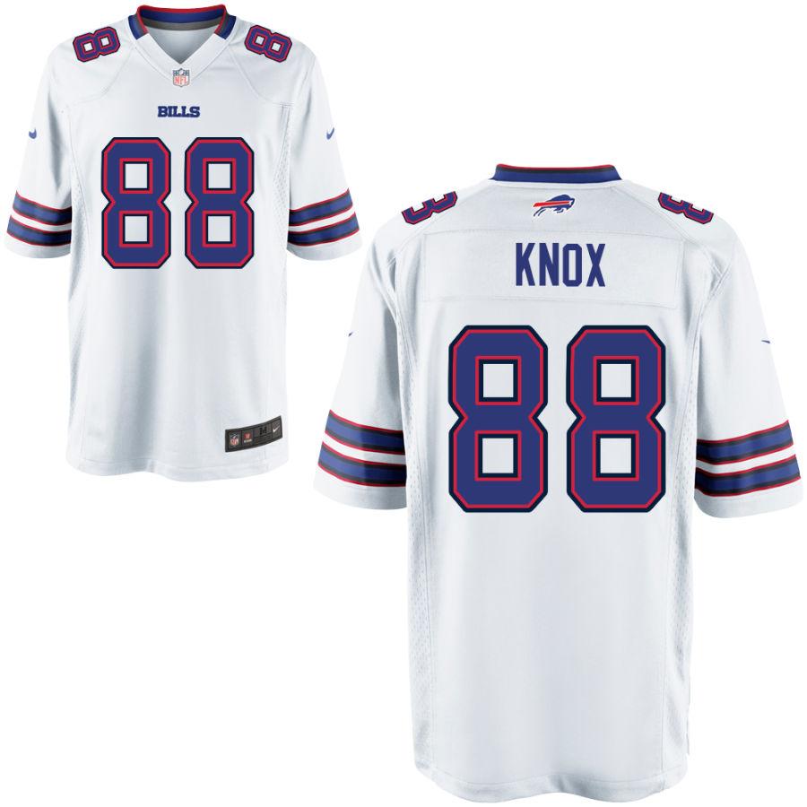 Men's Buffalo Bills #88 Dawson Knox White Stitched NFL Nike Game Jersey