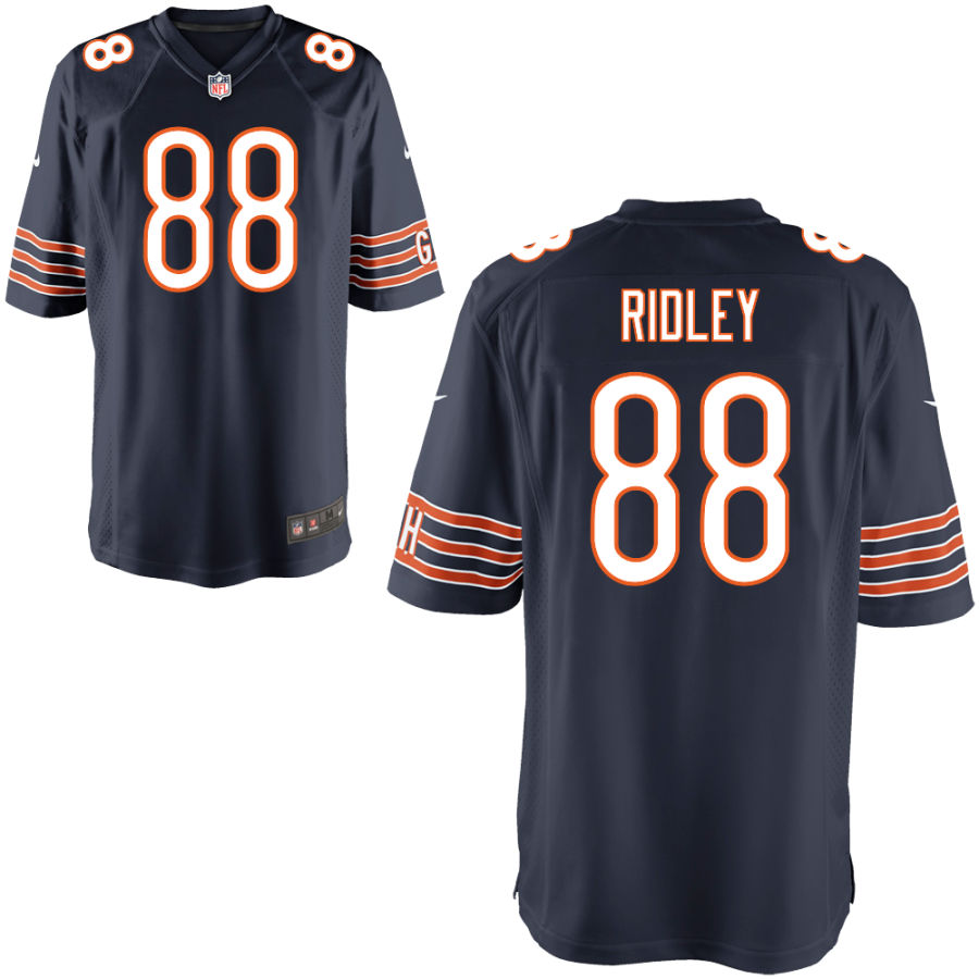 Men's Chicago Bears 88 Riley Ridley Navy Blue Game Jersey