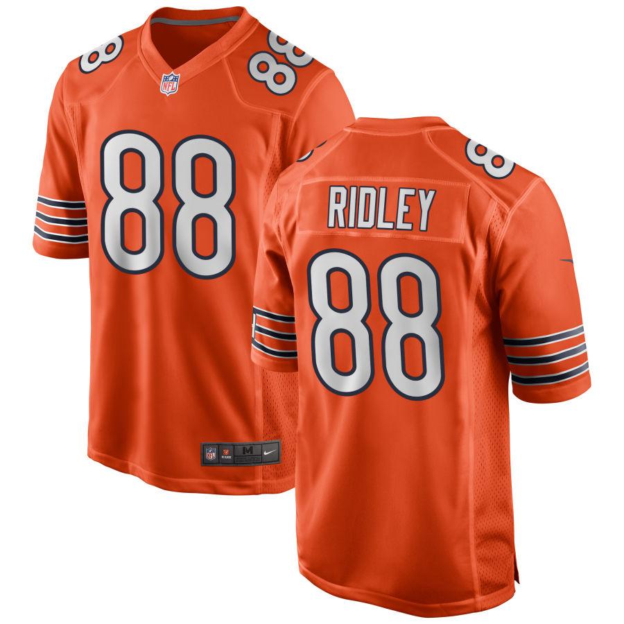 Men's Chicago Bears 88 Riley Ridley Orange Game Jersey