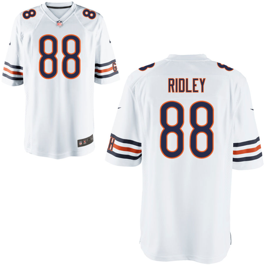 Men's Chicago Bears 88 Riley Ridley White Game Jersey