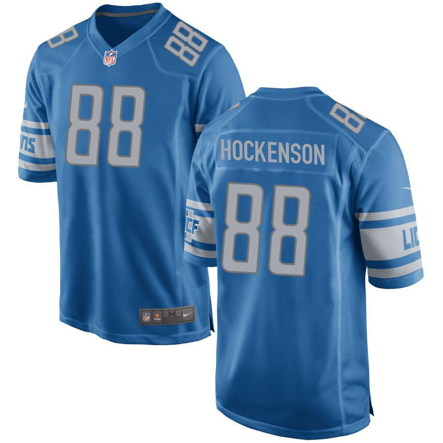 Men's Detroit Lions #88 TJ Hockenson Light Blue NFL Nike Limited Jersey