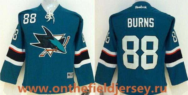 Women's San Jose Sharks #88 Brent Burns Teal Blue Stitched NHL Reebok Hockey Jersey