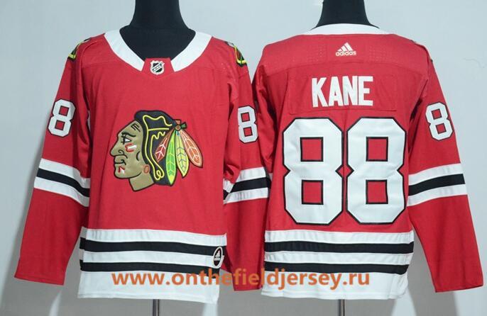 Men's Chicago Blackhawks #88 Patrick Kane Red Home 2017-2018 adidas Hockey Stitched NHL Jersey