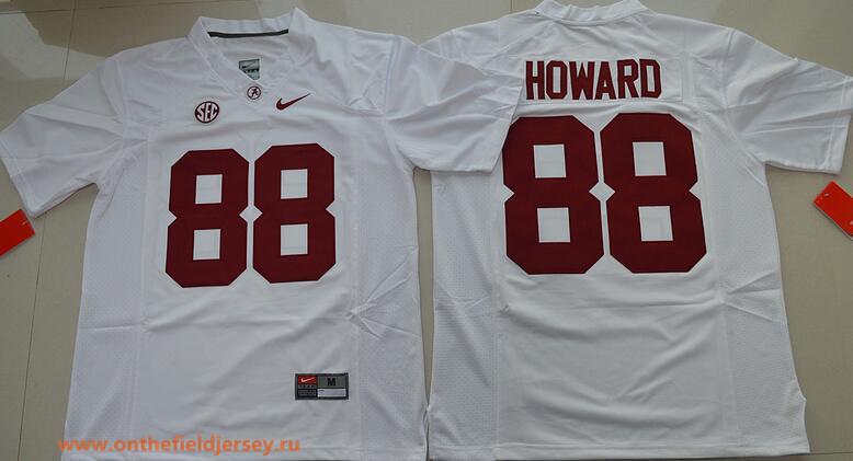Men's Alabama Crimson Tide #88 O. J. Howard Red Limited Stitched College Football Nike NCAA Jersey