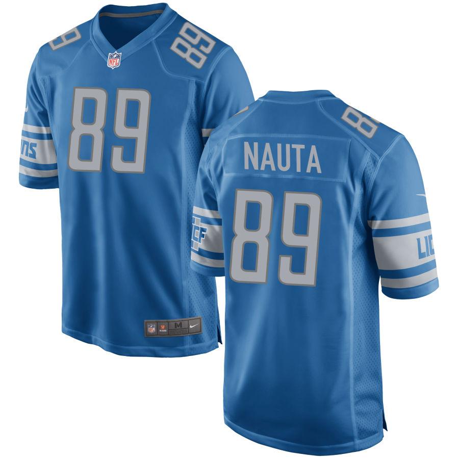 Men's Detroit Lions #89 Isaac Nauta Light Blue NFL Nike Limited Jersey