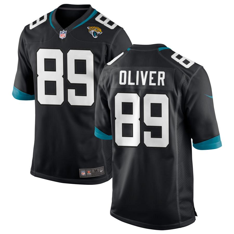 Men's Jacksonville Jaguars #89 Josh Oliver Black Stitched NFL Nike Game Jersey