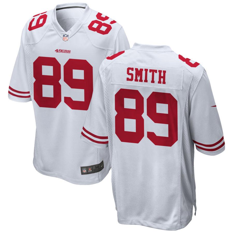 Men's San Francisco 49ers #89 Kaden Smith White Stitched NFL Nike Game Jersey