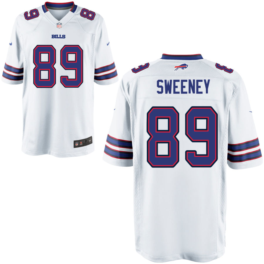 Men's Buffalo Bills #89 Tommy Sweeney White Stitched NFL Nike Game Jersey