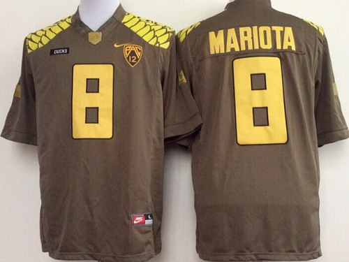 Oregon Ducks #8 Marcus Mariota 2013 Brown Limited Jersey