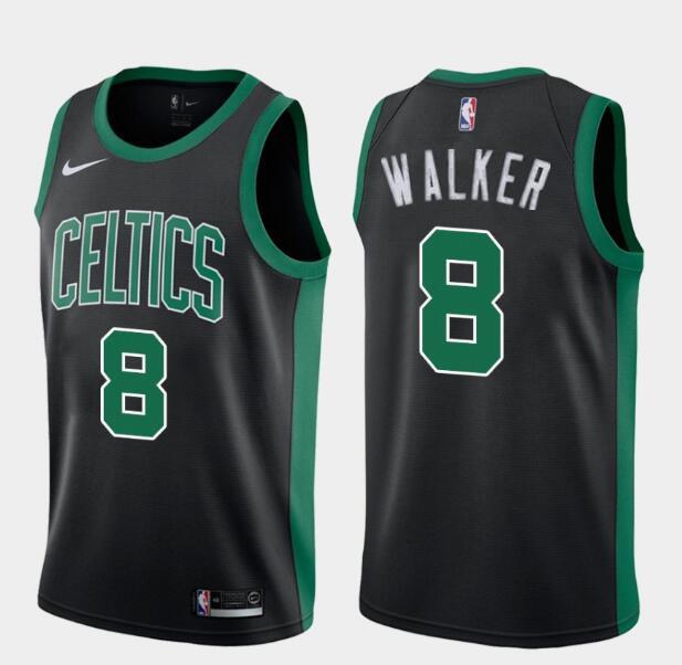 Men's Boston Celtics #8 Kemba Walker Black Nike Swingman General Electric Stitched NBA Jersey