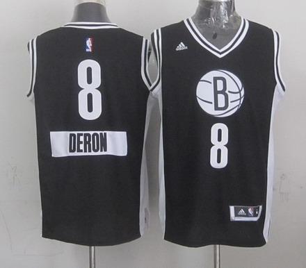 Brooklyn Nets #8 Deron Williams Revolution 30 Swingman 2014 Christmas Day Black Jersey
