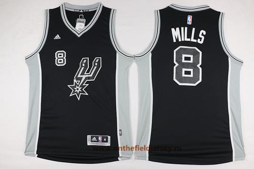 Men's San Antonio Spurs #8 Patty Mills NEW Black Stitched NBA Adidas Revolution 30 Swingman Jersey