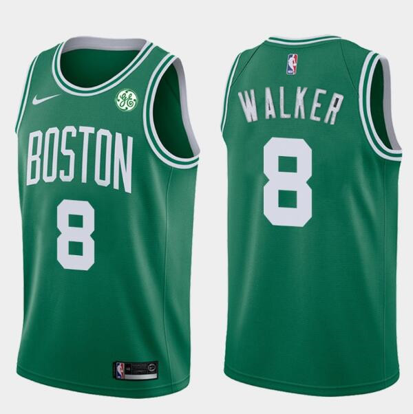 Men's Boston Celtics #8 Kemba Walker Green Nike Swingman General Electric Stitched NBA Jersey