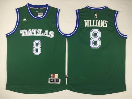 Men's Dallas Mavericks #8 Deron Williams Revolution 30 Swingman 2015-16 Green Jersey