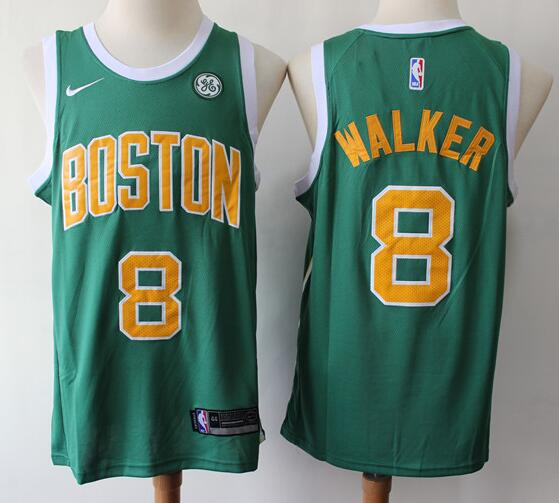 Men's Boston Celtics #8 Kemba Walker Green with Gold Nike Swingman General Electric Stitched NBA Jersey