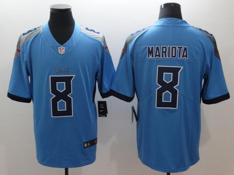 Men's Tennessee Titans #8 Marcus Mariota Light Blue 2019 Vapor Untouchable Stitched NFL Nike Limited Jersey