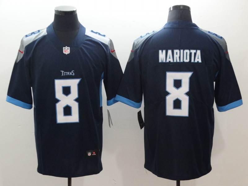 Men's Tennessee Titans #8 Marcus Mariota Navy Blue 2019 Vapor Untouchable Stitched NFL Nike Limited Jersey