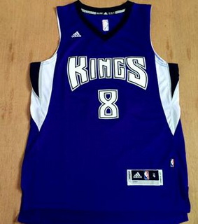 Men's Sacramento Kings #8 Rudy Gay Revolution 30 Swingman New Purple Jersey