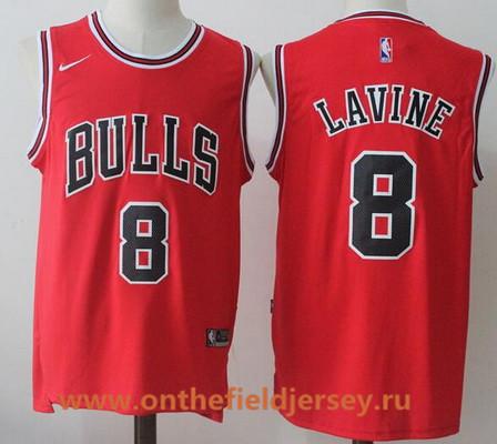 Men's Chicago Bulls #8 Zach LaVine Red 2017-2018 Nike Swingman Stitched NBA Jersey