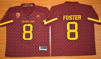 Men's Arizona State Sun Devils #8 D.J. Foster Red Desert Ice 2015 College Football Jersey