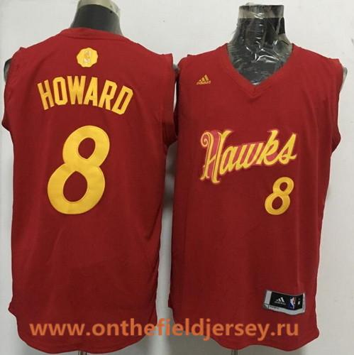 Men's Atlanta Hawks #8 Dwight Howard adidas Red 2016 Christmas Day Stitched NBA Swingman Jersey