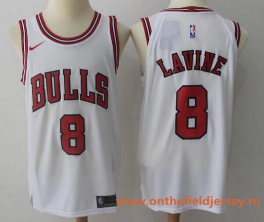Men's Chicago Bulls #8 Zach LaVine White 2017-2018 Nike Swingman Stitched NBA Jersey