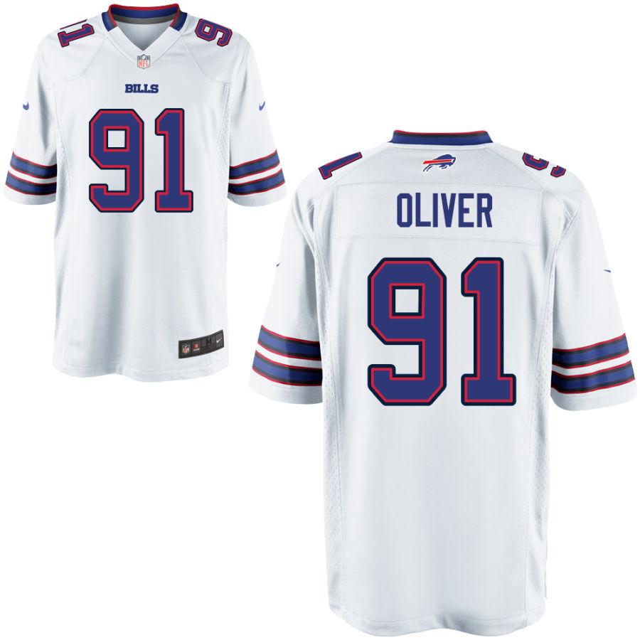 Men's Buffalo Bills #91 Ed Oliver White Stitched NFL Nike Game Jersey