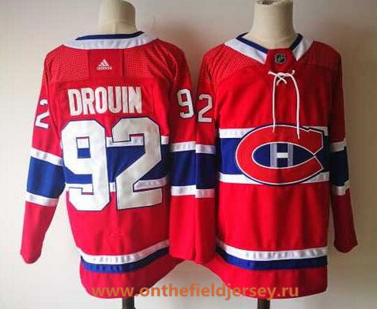 Men's Montreal Canadiens #92 Jonathan Drouin Red Home 2017-2018 Adidas Hockey Stitched NHL Jersey