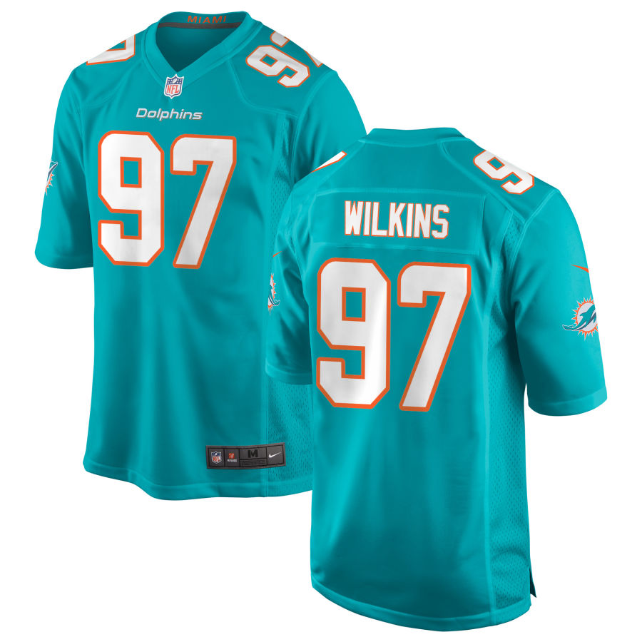 Men's Miami Dolphins #97 Christian Wilkins Green Team Color Stitched NFL Nike Game Jersey