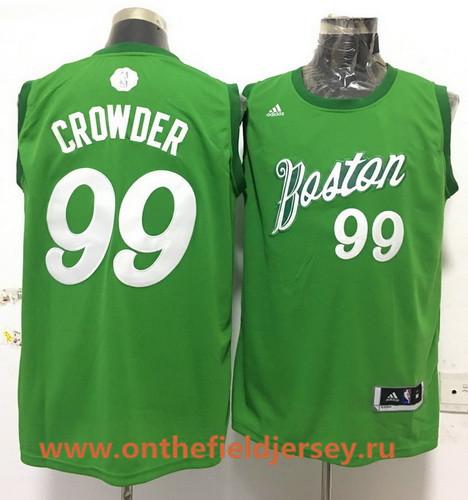 Men's Boston Celtics #99 Jae Crowder adidas Green 2016 Christmas Day Stitched NBA Swingman Jersey