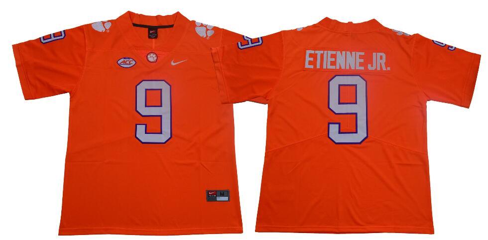 Men's Clemson Tigers #9 Travis Etienne Jr. Nike Orange NCAA College Football Jersey