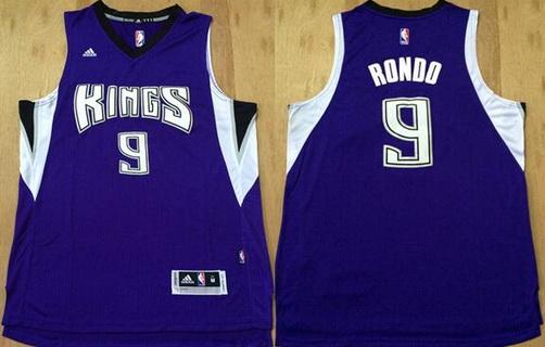 Men's Sacramento Kings #9 Rajon Rondo Revolution 30 Swingman New Purple Jersey