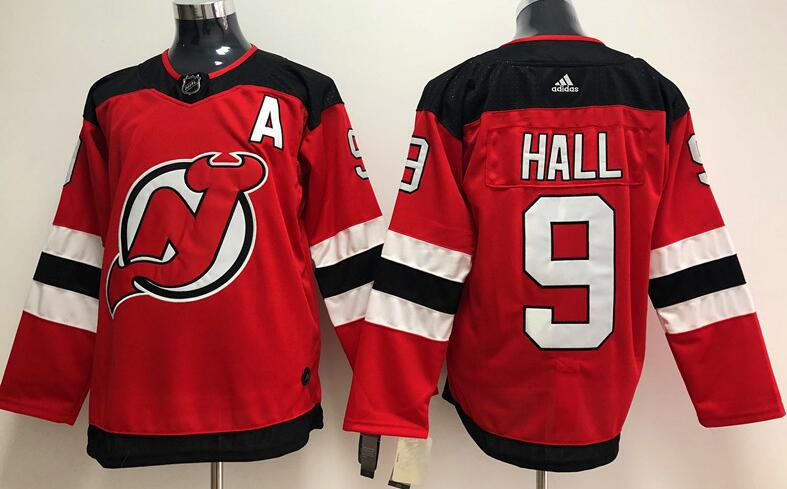 Men's New Jersey Devils #9 Taylor Hall Red Stitched Adidas NHL Home Men's Jersey