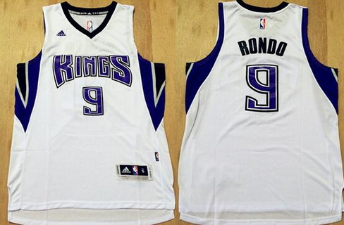 Men's Sacramento Kings #9 Rajon Rondo Revolution 30 Swingman New White Jersey