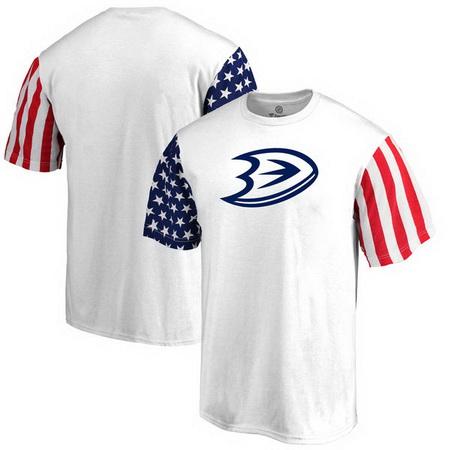 Anaheim Ducks Fanatics Branded Stars & Stripes T-Shirt - White