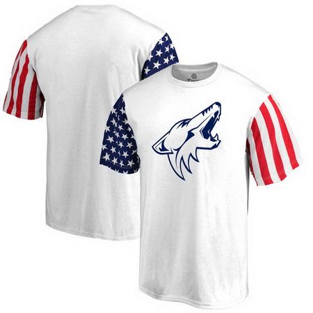 Arizona Coyotes Fanatics Branded Stars & Stripes T-Shirt - White