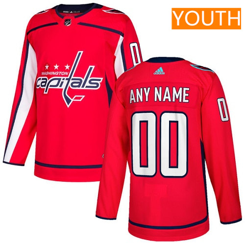 Youth Washington Capitals Custom Red Home Stitched Adidas NHL Jersey