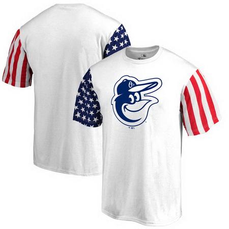 Baltimore Orioles Fanatics Branded Stars & Stripes T-Shirt - White