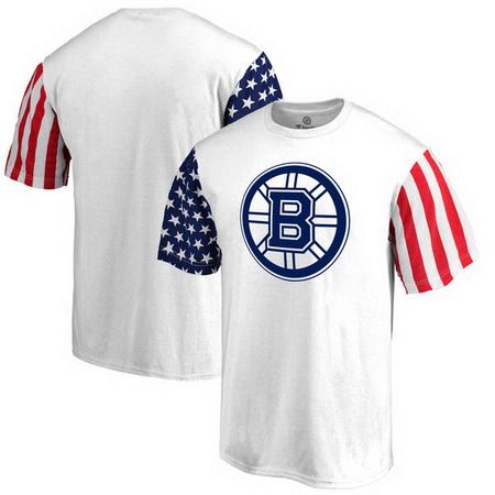 Boston Bruins Fanatics Branded Stars & Stripes T-Shirt - White