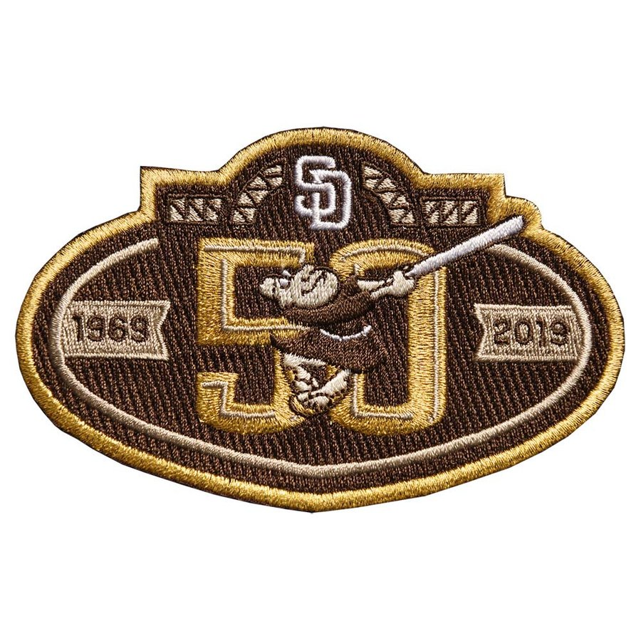 2019 San Diego Padres Brown 50th Anniversary Patch