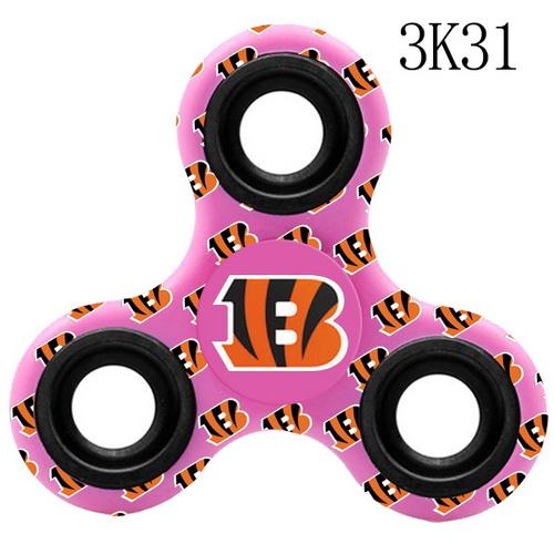 CINCINNATI BENGALS Pink Logo Three-Way Fidget Spinner III - 3K31