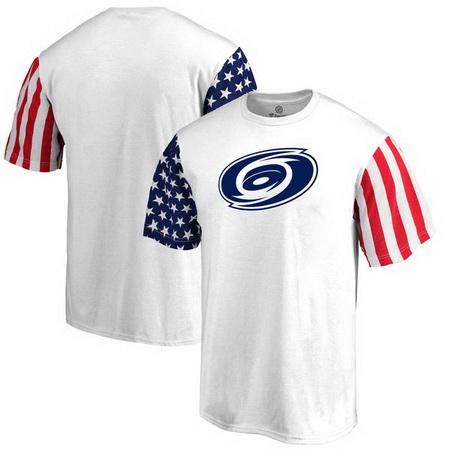 Carolina Hurricanes Fanatics Branded Stars & Stripes T-Shirt - White