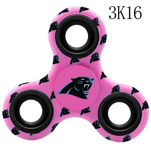 Carolina Panthers Pink Logo Three-Way Fidget Spinner III - 3K16