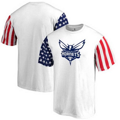 Charlotte Hornets Fanatics Branded Stars & Stripes T-Shirt - White