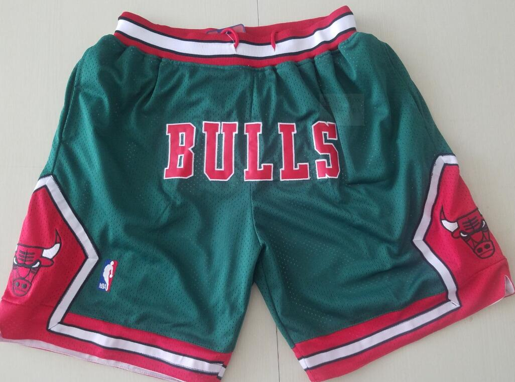 Chicago Bulls Green with Bulls JUST DON Shorts