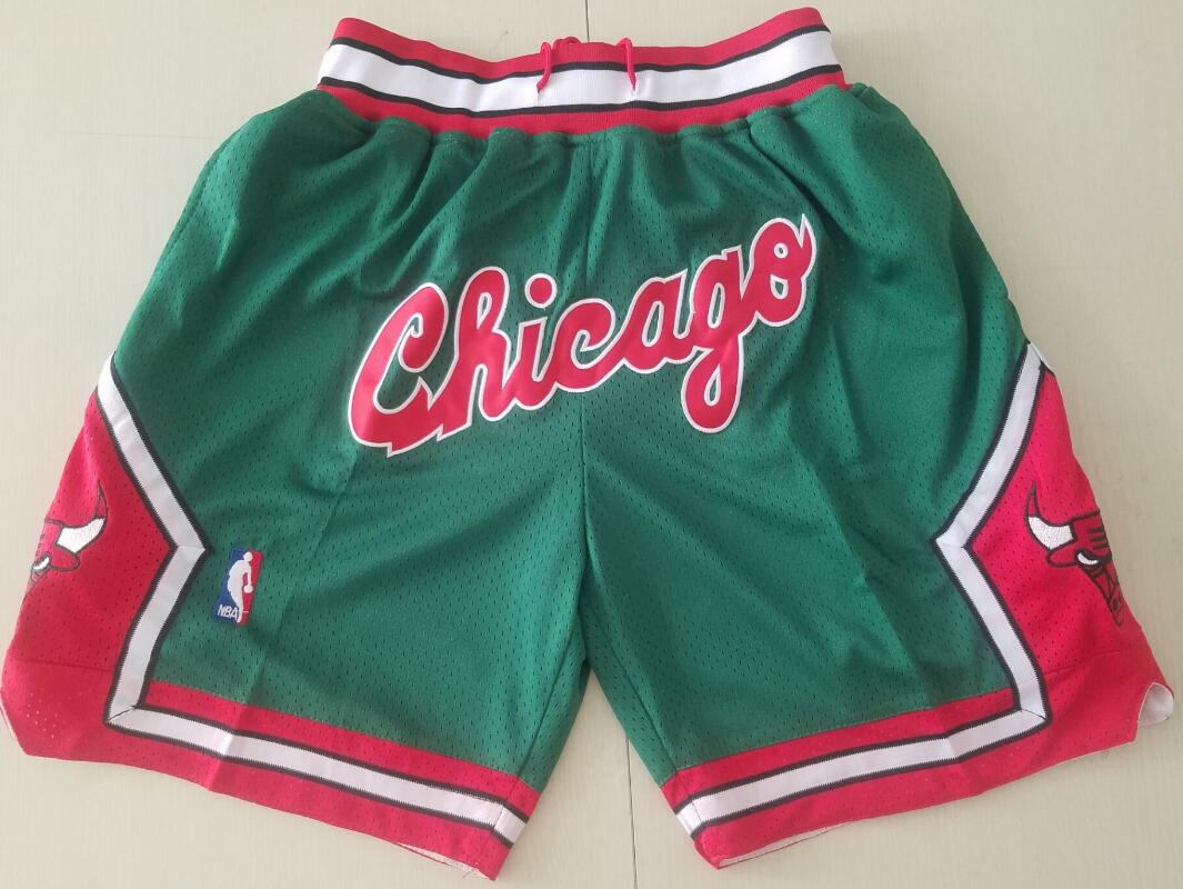 Chicago Bulls Green with Chicago JUST DON Shorts