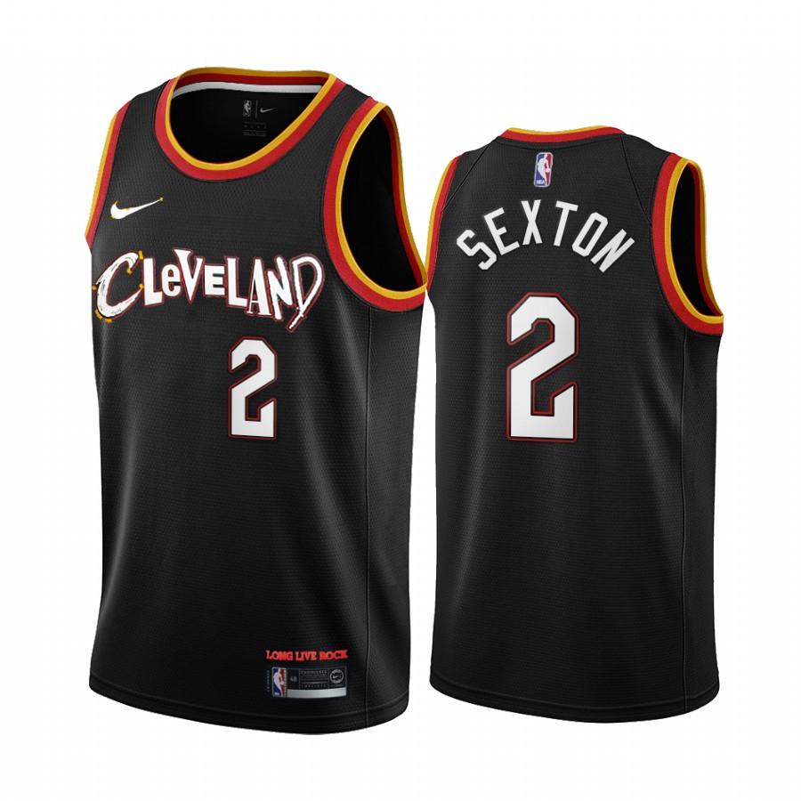 Cleveland Cavaliers #2 Collin Sexton 2020-21 Black City Edition Nike Swingman Jersey