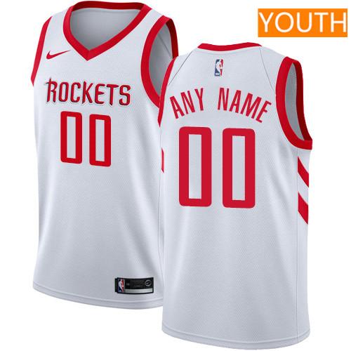 Custom Houston Rockets White Nike NBA Youth Stitched Swingman Jersey